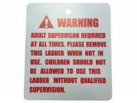 Zero Gravity Ultima 4 12ft Trampoline Part Number L09 - Safety Instruction Placard